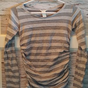 Small Maternity Striped Long Sleeve Shirt